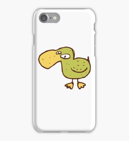 Funny little cartoon duck iPhone Case/Skin