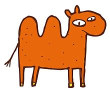 Cute funny cartoon Bactrian camel by berlinrob