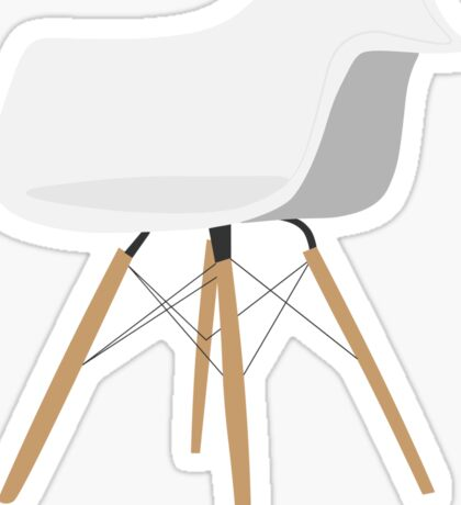 Eames Molded Plastic Armchair (DAW) Sticker