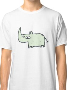 Funny cute cartoon rhinoceros Classic T-Shirt