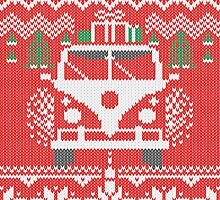 Vintage Retro Camper Van Sweater Knit Style by Garaga