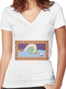 Maui and Moana Women's Fitted V-Neck T-Shirt