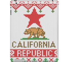 California Republic Bear on Christmas Ugly Sweater iPad Case/Skin