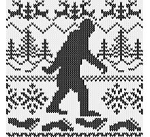 Gone Squatchin Ugly Christmas Sweater Knit Style Photographic Print