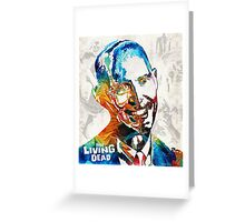 Zombie Art - The Living Dead - Halloween Fun Greeting Card