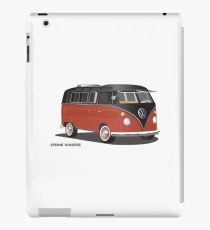 21 Window VW Bus Red/Black Hippie or Surfer Van iPad Case/Skin