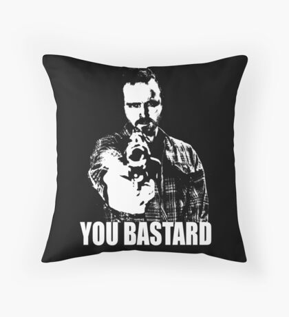 Jesse Pinkman - YOU BASTARD Throw Pillow