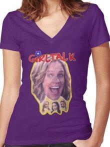 Girl Talk Fuller House Women's Fitted V-Neck T-Shirt