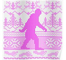 Gone Squatchin Ugly Christmas Sweater Knit Style Poster