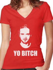 Jesse Pinkman - YO BITCH Women's Fitted V-Neck T-Shirt