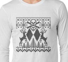 Double Black Diamond Crossbones Extreme Ugly Xmas Long Sleeve T-Shirt