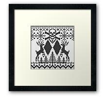 Double Black Diamond Crossbones Extreme Ugly Xmas Framed Print