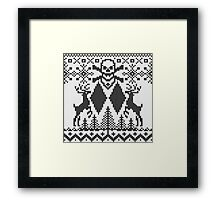 Double Black Diamond Crossbones Extreme Ugly Xmas Framed Print