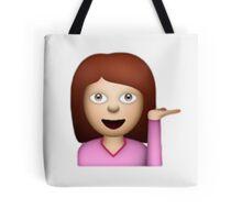 Hair Toss emoji Tote Bag