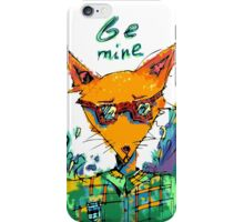 fox with waves iPhone Case/Skin