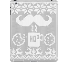 Santa's Stache Over Midnight Snack Knit Style iPad Case/Skin