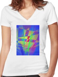 Blue Reflection Women's Fitted V-Neck T-Shirt