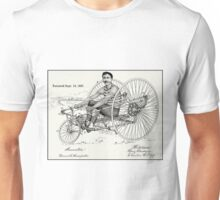ODD BICYCLE; Vintage Patent Advertising Print Unisex T-Shirt