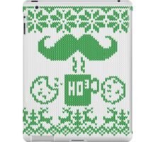 Santa's Stache Over Green Midnight Snack Knit Style iPad Case/Skin