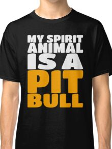 My Spirit Is A Animal A Pit Bull - Dog Puppy Classic T-Shirt