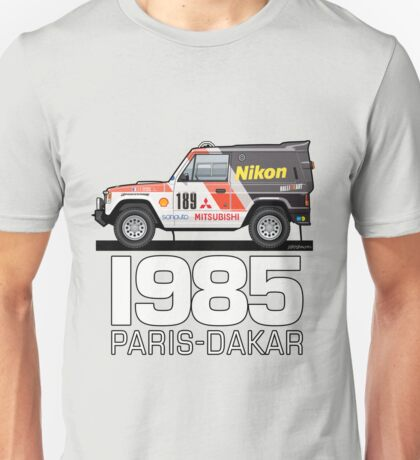 Three Diamond Pajero Turbo 1985 Rally Paris Dakar Winner Unisex T-Shirt