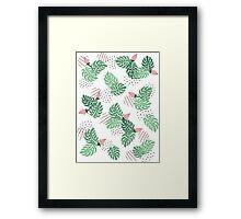 Leaf pattern Framed Print