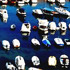 Water colour Boats in the Harbour by mikequigley