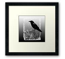 Raven ( GoT ) Framed Print
