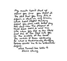 Alex Turner (Arctic Monkeys) Love Letter by Hex Claw