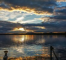Sunset over Brome Lake, Quebec, Canada  by Heather Friedman