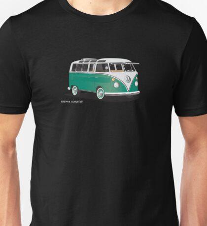 VW Bus T2 Samba Green for Blk Backgr Hippie Van Unisex T-Shirt