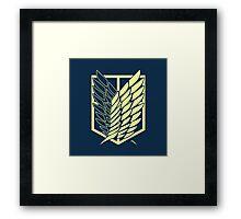 Attack On Titan: Scout Regiment (Blue) Framed Print