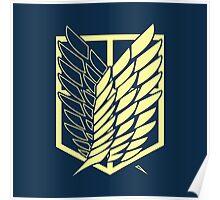 Attack On Titan: Scout Regiment (Blue) Poster