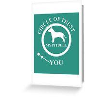 Pit Bull Circle Greeting Card