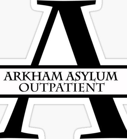 Arkham Asylum Outpatient Sticker