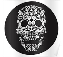 Day of the Dead skull circle Poster