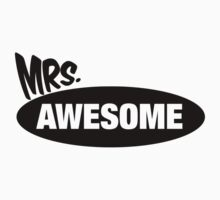 Mr. Awesome & Mrs. Awesome Couples Design by 2E1K