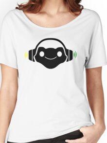 Black Lucio logo Women's Relaxed Fit T-Shirt