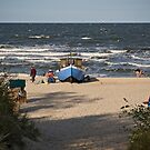 Beach in Herringsdorf on the Island of Usedom, Germany. by David A. L. Davies