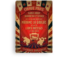 CIRQUE PRICE ROUGE Canvas Print