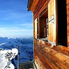 Solvay emergency hut and Italian Alps by Roy Martin Lindman