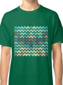 Watercolor Chevron Pattern Classic T-Shirt