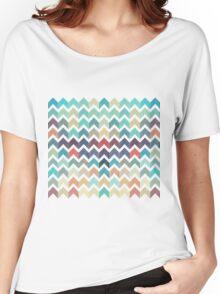 Watercolor Chevron Pattern Women's Relaxed Fit T-Shirt