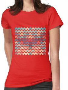 Watercolor Chevron Pattern Womens Fitted T-Shirt