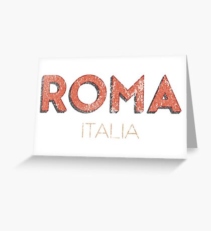 Vintage 60's Rome Italy Greeting Card
