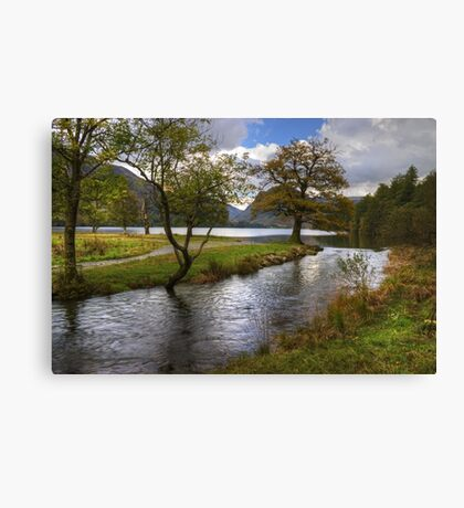 Buttermere Dubs In October Canvas Print