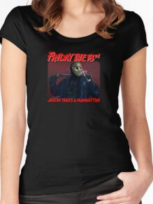 Vorhees' Day Off - Friday The 18th  Women's Fitted Scoop T-Shirt