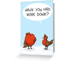 Busty Robins Greeting Card