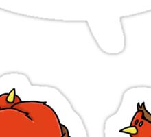 Busty Robins Sticker
