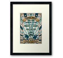 CIRQUE PRICE BLEU Framed Print